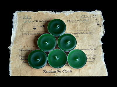 *Green* 6 x Tea Candles for Spells