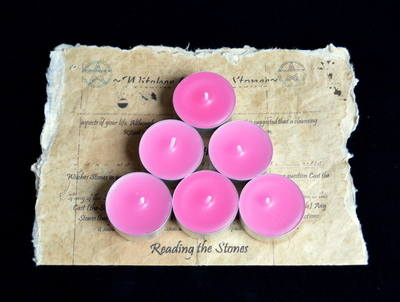 *Pink* 6 x Tea Candles for Spells