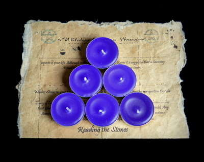 *Purple* 6 x Tea Candles for Spells