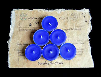 *Blue* 6 x Tea Candles for Spells