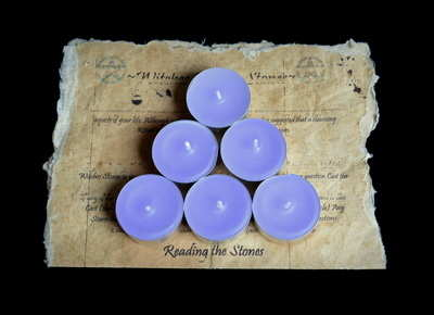 *Lilac* 6 x Tea Candles for Spells