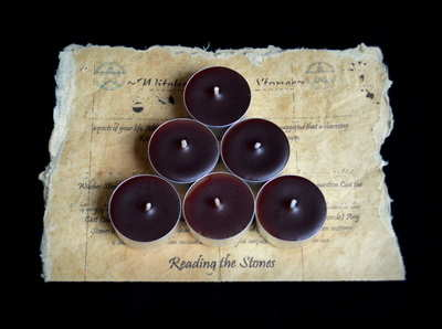 *Brown* 6 x Tea Candles for Spells
