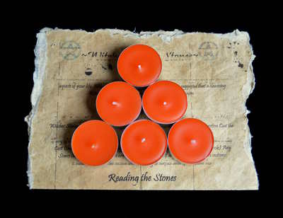 *Orange* 6 x Tea Candles for Spells