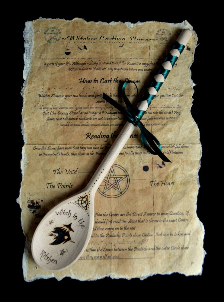 Hand Decorated Wooden Spoon 'Witch in the Kitchen'