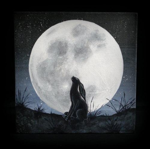 'Stargazer' Original Acrylic Painting