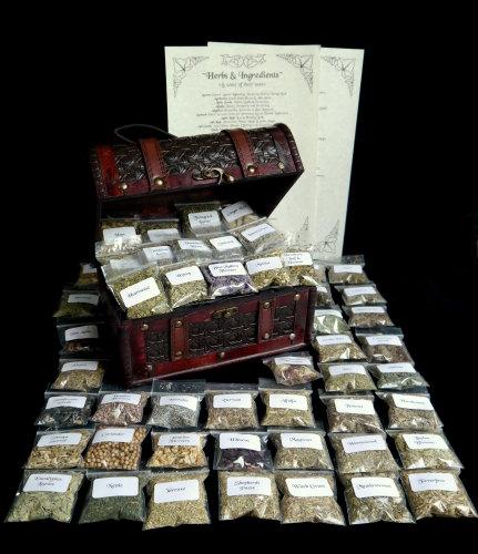 50 Herb Starter Chest & Herbs & Uses Leaflet