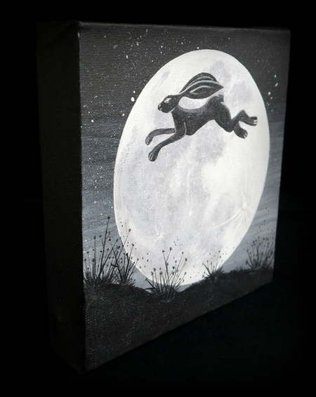 Over the Moon Painting 2