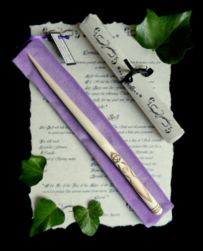 Rowan Wood Wand with *Goddess Hilt*