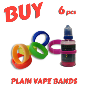 5. UNPRINTED VAP-O-RING PACK (PLAIN VAPE BANDS) x 6pcs
