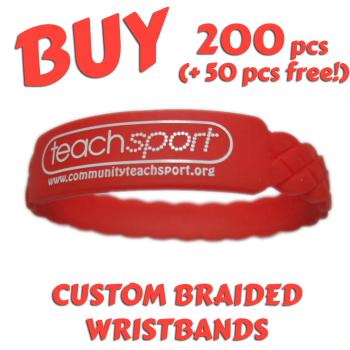 Braided Silicone Wristbands x 200 pcs (EXCLUSIVE DESIGN!)