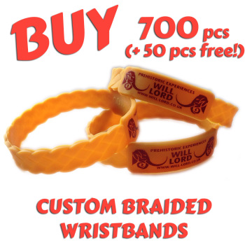 Braided Silicone Wristbands x 700 pcs (EXCLUSIVE DESIGN!)