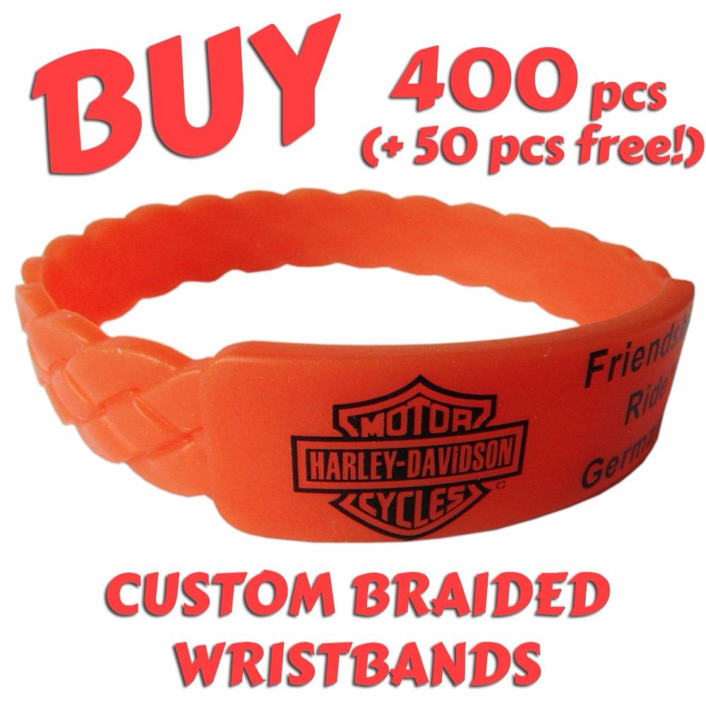 Braided Wristbands x 400 - Exclusive!