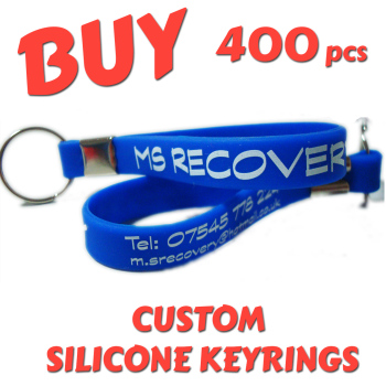 Custom Printed Silicone Keyring x 400 pcs