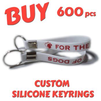 Custom Printed Silicone Keyring x 600 pcs