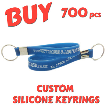 Custom Printed Silicone Keyring x 700pcs
