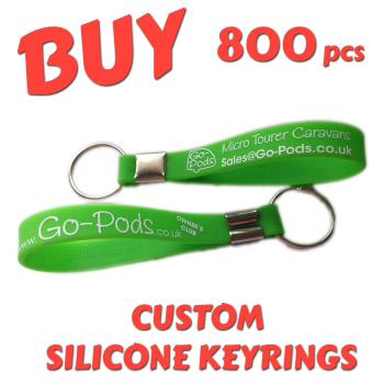Custom Printed Silicone Keyring x 800 pcs