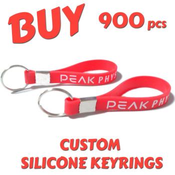 Custom Printed Silicone Keyring x 900pcs