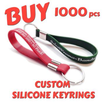 Custom Printed Silicone Keyring x 1000 pcs