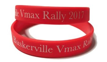 * Baskerville VMAX Rally 2017 2 Silicone Wristbands by www.promo-bands.co.u