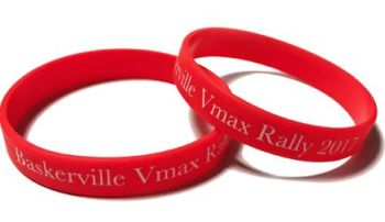 * Baskerville VMAX Rally 2017 Silicone Wristbands by www.promo-bands.co.uk