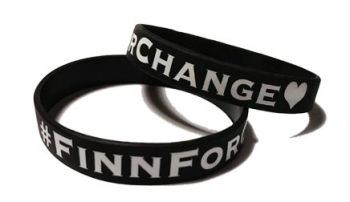 * FinnForChange #Finn Custom Printed Silicone Wristands by www.promo-bands.