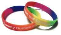 * County Durham Fire and Rescue Services 2 Custom Printed Silicone Rainbow