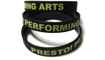 Presto Performing Arts Custom Printed Group Wristbands by Promo-Bands.co.uk
