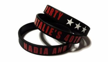Nadia & Natalie - Custom Printed Birthday Party Wristbands by Promo-Bands.c