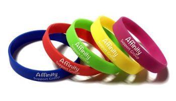 Affinity Support Group 1 - Custom Printed Silicone Wristbands by www.Promo-