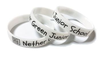Nether Green Junior School - Custom Printed Silicone Glow In the Dark Wris