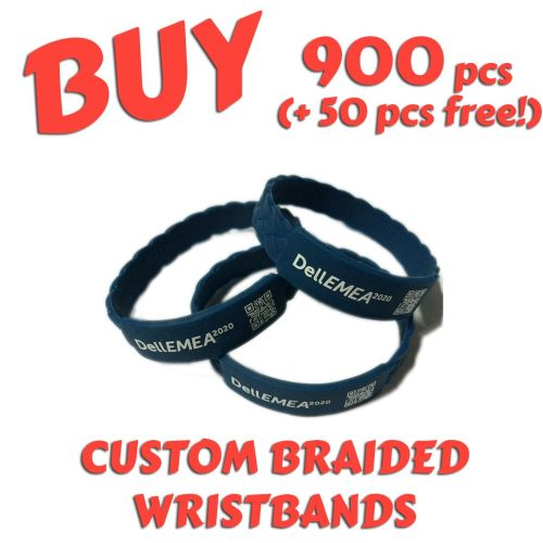 Braided Silicone Wristbands x 900 pcs (EXCLUSIVE DESIGN!)