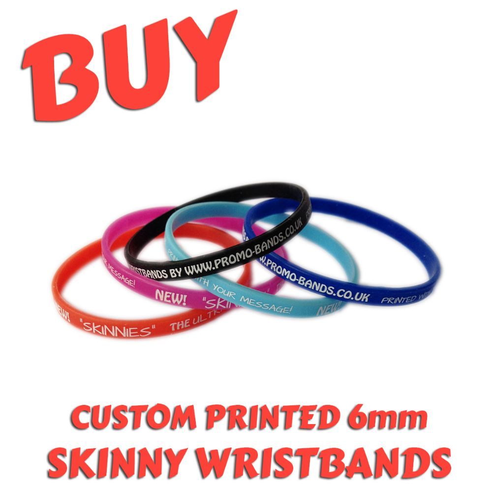 A6) Customisable 6mm Silicone Wristbands