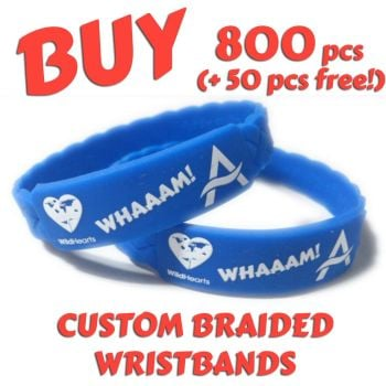 M8) Custom Printed 25mm Wristbands x 800 pcs