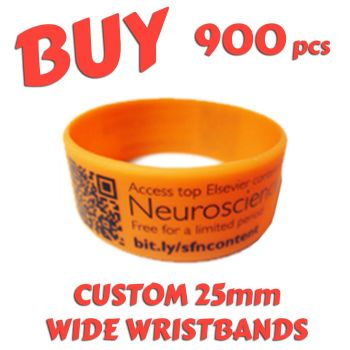 M9) Custom Printed 25mm Wristbands x 900 pcs