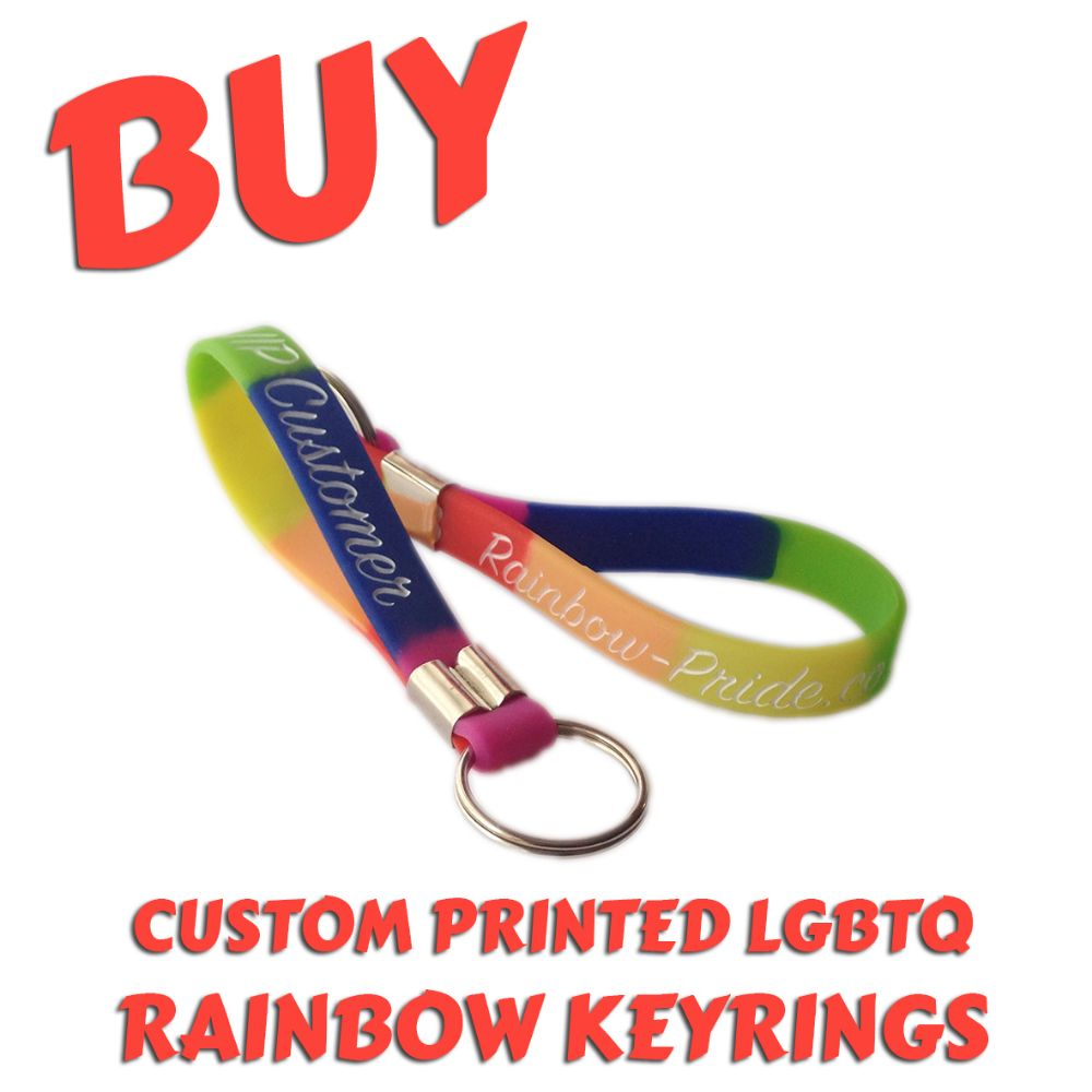 B3) Customisable LGBTQ Rainbow Keyrings