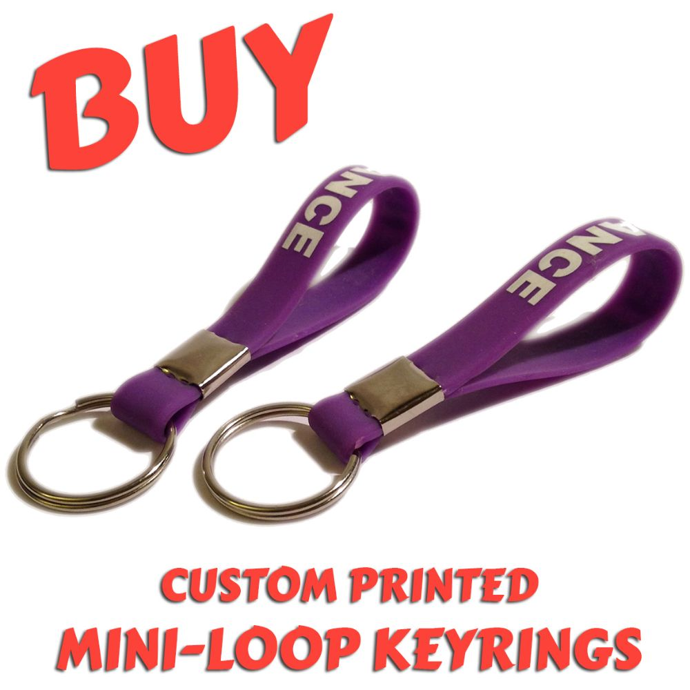 B4) Customisable Silicone Mini-Loop Keyrings