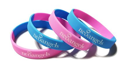 * Neoangels Custom Printed Silicone Charity Wristbands by www.promo-bands.c