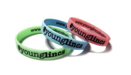 * Young Lincs Custom Printed Wristbands UK by www.promo-bands.co.uk