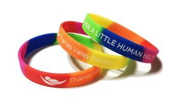 Thames Pride Fertility - Custom Printed LGBTQ Rainbow Pride Wristbands by P