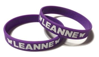 Leanne Fundraising - Custom Printed Charity Silicone Wristbands by Promo-Ba
