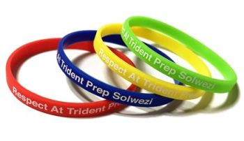 Trident Prep School - Custom Printed 6mm Skinny School Wristbands by Promo-