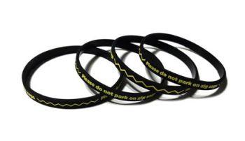Zig Zag School Parking Campaign - Custom Printed 6mm Skinny School Wristban