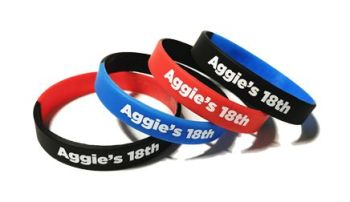 Aggies 18th Birthday Party - Custom Printed Party Wristbands by Promo-Bands