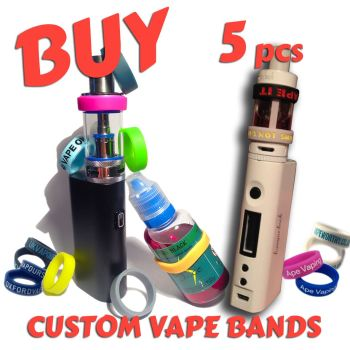 S1) Custom Printed Vape Bands x 5 pcs