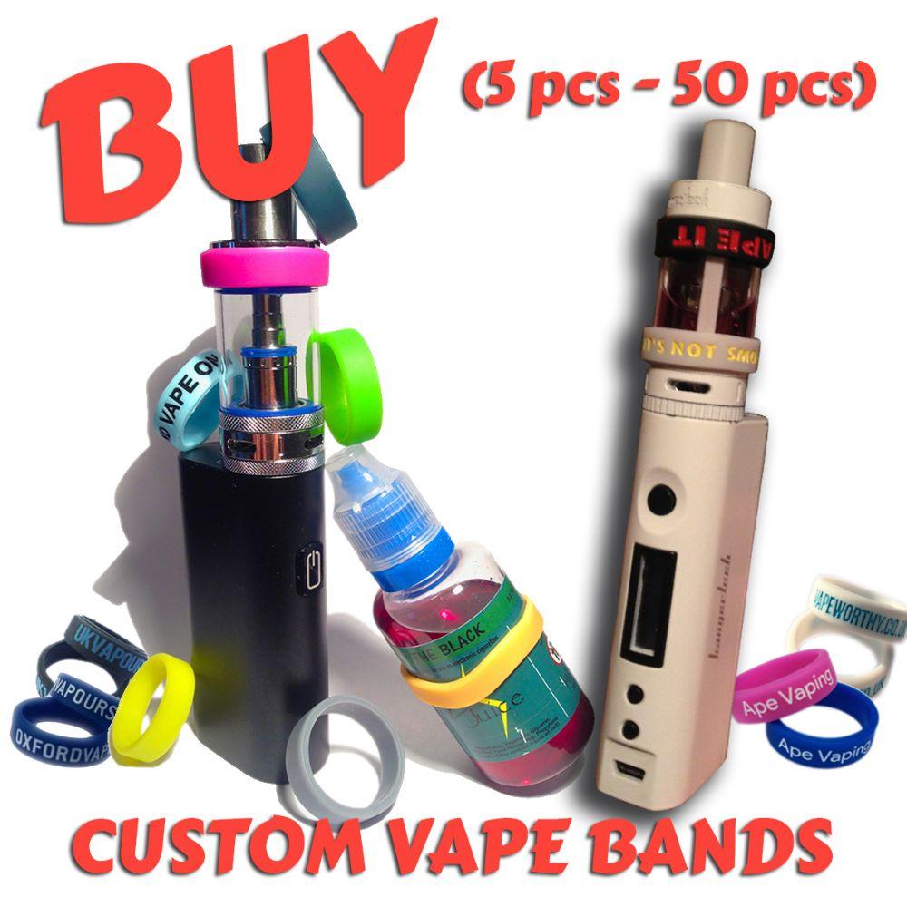 B5) Custom Printed Vape Bands (5 pcs - 50 pcs)