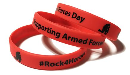 Rock4Heroes Supporting Armed Forces - Custom Printed Wristbands by Promo-Ba