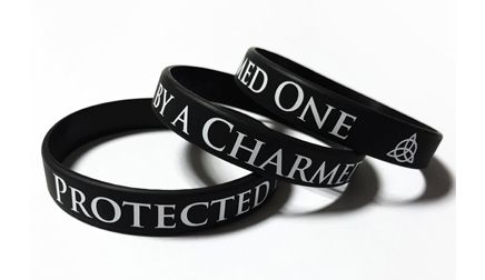 Protected by a Charmed One - Custom Printed Wristbands by Promo-Bands.co.uk