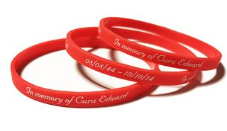 Gura Edward - Custom printed Promotional wristbands by Promo-bands.co.uk