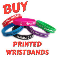 A1) Customisable 12mm Silicone Wristbands