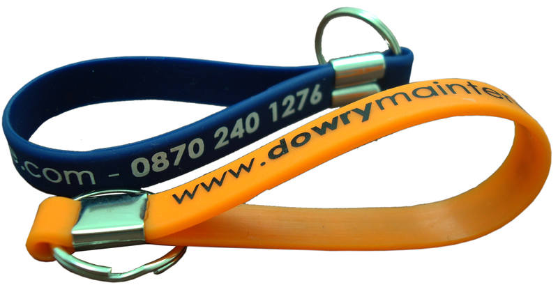 Silicone keyrings - www.Promo-Bands.co.uk